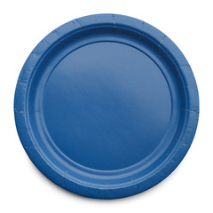 Blue Paper Plate
