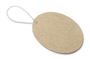 Brown Oval Tag