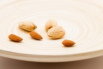 Almond Nuts On A Dish