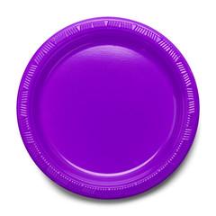 Purple Plastic Plate
