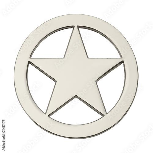 Round Sheriff Star - 74457477