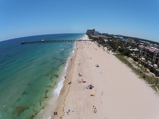 Beach scenery aerial view