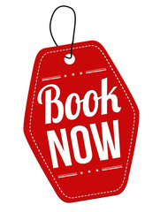 Book now label or price tag