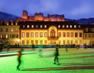 Heidelberg Karlsplatz im Winter