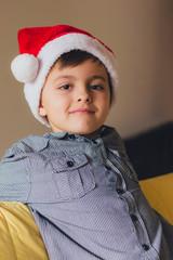 Boy with santa hat