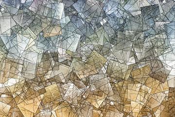 Kubistische Textur