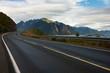 canvas print picture - Lofoten road