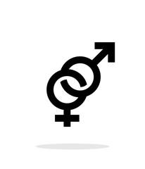 Hetero icon on white background.