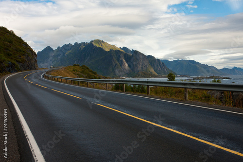 Foto op Canvas Scandinavië Lofoten road