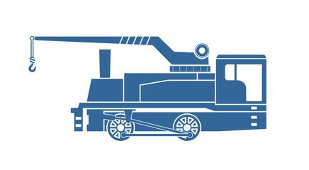 Crane tank. Steam locomotive