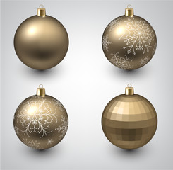 Golden christmas balls.