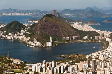 Rio de Janeiro Hills, Lake, Urban Districts, Sugarloaf Mountain