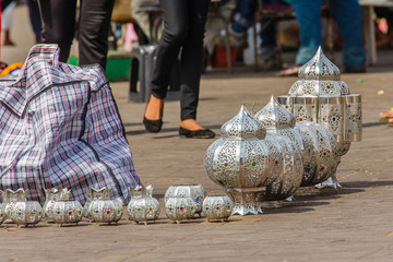 Marokko, Marrakesh, lampen