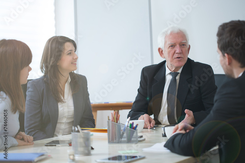 canvas print picture Businesspeople establishing business strategy