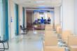 hospital indoor hallway and waiting seats