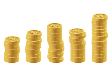 US dollar coins as chart