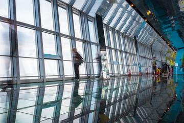 transparent viewing platform in a skyscraper