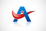 A star pride loop symbol abstract logo vector poster