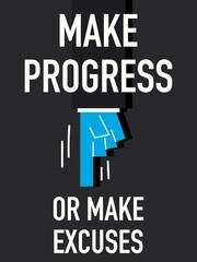 Word MAKE PROGRESS