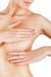 Female controlling breast