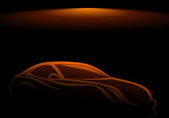 Estetik  otomobil ( karanlıkta)