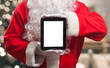 Santa Claus holding a digital tablet