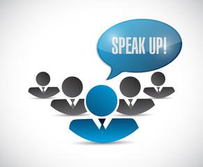 speak up team message illustration