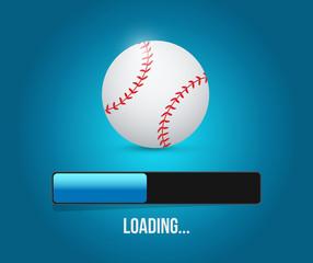 baseball loading bar illustration design