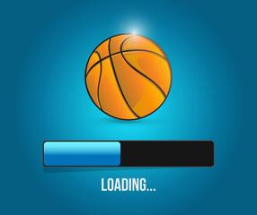basketball loading bar illustration design