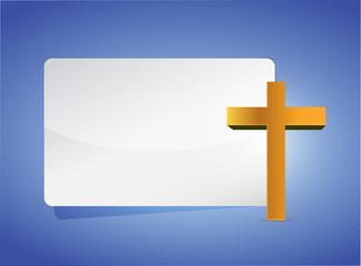 cross religious banner illustration design