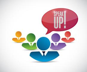 speak up diversity team. illustration