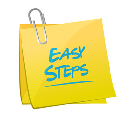 easy steps post it memo illustration design