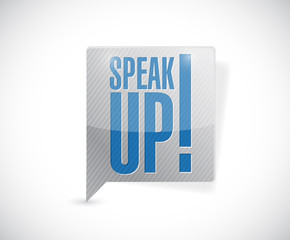 speak up message bubble illustration