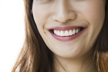 Smile mouth of woman