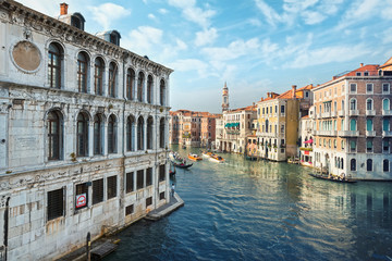 Typical view of the Canal Grande Canale in Venice, Italy