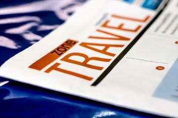 travel title, newspaper