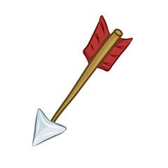 arrow isolated illustration