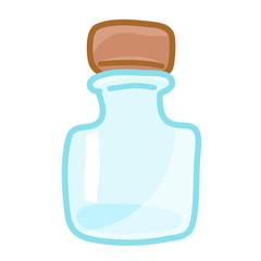 empty bottles isolated illustration