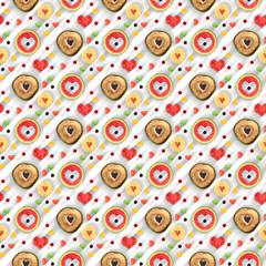 Sweet heart seamless pattern applied