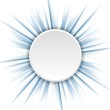 Blue beams and white circle