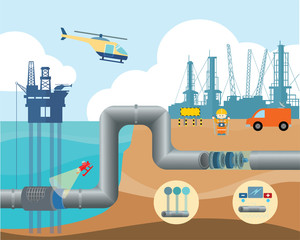 fuel pipeline management infographic illustration