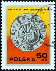 Silver Dinar, 11th century (Poland 1977)