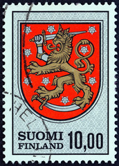 Arms of Finland, 1581 (Finland 1974)