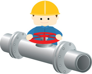 block valves gas pipeline illustration vector