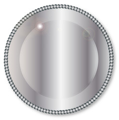 Round Silver Background