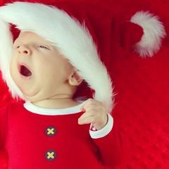 Santa claus baby yawn
