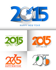 Happy new year 2015 Design Collection.