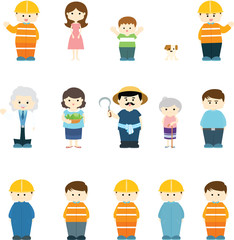 character variety illustration vector
