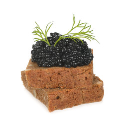 Slice of bread with caviar