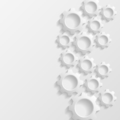 Abstract background with gears